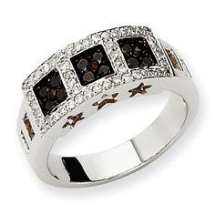 14k White Gold Black & White Diamond Ring. Price: $1146.65