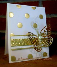 BUTTERFLY POLKA by Karen B Barber - Cards and Paper Crafts at Splitcoaststampers