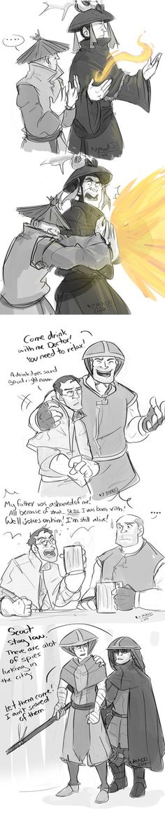 TF2-Avatar TLAB screenshots 2-[link] These drawings are attempts to learn how to create a decent screen shot.....and to feed my boredom and break from my RAS video. These are the TF2 cast in the av...