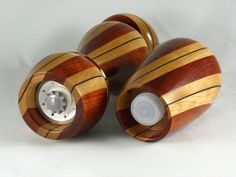 My wife asked me to make a peppermill for her friend's wedding present. I managed to finish gluing up the blanks by the wedding, but I was a wee bit late in completing the mill. I felt so b… Wood Turning Projects, Friend Wedding, Salt, Presents, Woodturning, Pepper Grinder, Workshop, Gifts, Wood Turning