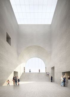 "pickledesign: "" Visualisation for the new Museum of Fine Arts in the city of Lausanne, Switzerland by Barcelona-based architects Estudio Barozzi Veiga. Museum Architecture, Space Architecture, Architecture Drawings, Contemporary Architecture, Amazing Architecture, Lausanne, Built Environment, Museum Of Fine Arts, Photomontage"