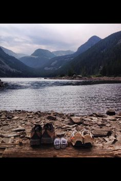 """Pregnancy announcement...we said """"Our next big adventure begins in April 2014!"""" Photo taken at Lava Lake near Big Sky, Montana."""