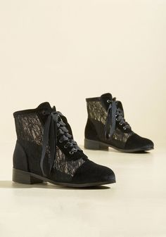 Lace Get Together Velvet Boot in 11, #ModCloth