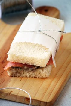 Sandwich de salmón con berenjena