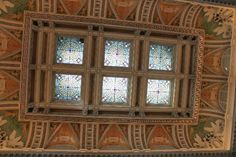 One of the beautiful ceilings inside the Library of Congress