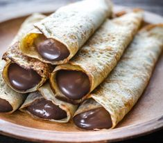 Uploaded by ♡. Find images and videos about love, food and chocolate on We Heart It - the app to get lost in what you love. Nutella Crepes, Chocolate Crepes, Dark Chocolate Almonds, Classic French Dishes, Snack Recipes, Cooking Recipes, Snacks, Croatian Recipes, Diy Food