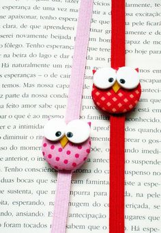 Cute owl bookmarks
