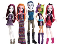 Maul Monsteristas Target Exclusive Monster High Dolls 2015 - Spectra Vondergeist, Gigi Grant, Invisi Billy, Clawdeen Wolf and Draculaura. This Invisi Billy's body is said to be mostly transparent. Monster High Wiki, New Monster High Dolls, Monster High Boys, Monster High School, Monster High Characters, Love Monster, Wolf, Monster High Collection, Personajes Monster High