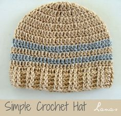 Lanas de Ana | Different Hat patterns available.  Simple hats, striped hats, granny hats and knitted hats.