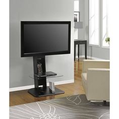 Best Buy: Altra Furniture Galaxy TV Stand with Mount for Flat-Panel TVs Up to Black 1705096 50 Tv Stand, Small Tv Stand, Black Tv Stand, Tv Stand With Mount, Bedroom Tv Stand, Bedroom Sets, Master Bedroom, Bedroom Modern, Dream Bedroom