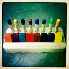 Waldorf Beeswax Wood Crayon Holder - Natural Toy - Art Supplies - Montessori - Homeschool - Homeschooling. $21.95, via Etsy.