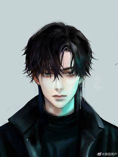 Dark Anime Guys, Cool Anime Guys, Handsome Anime Guys, Hot Anime Boy, Anime Boys, Wallpaper Animé, Manga Art, Anime Art, Korean Anime