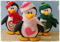 Feltro Fácil: Pinguim em Feltro