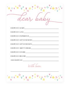 Sweet shower wishes for baby printable pink and yellow by LittleSizzle Baby Quiz, Baby Shower Quiz, Baby Shower Wishes, Baby Shower Cards, Baby Shower Activities, Baby Shower Printables, Wishes For Baby Cards, Floral Baby Shower, New Moms