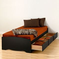 Prepac Sonoma Extra Long Twin Platform Bed with Storage & Reviews | Wayfair