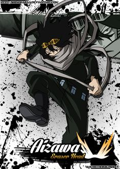 Shouta Aizawa is from Boku no Hero Academia Shouta Aizawa, also known as the hero Eraser Head, is a Pro Hero and the homeroom teacher of&. My Hero Academia Memes, Buko No Hero Academia, Hero Academia Characters, My Hero Academia Manga, Tokoyami Boku No Hero, Shouta Aizawa, 3d Studio, Hero Wallpaper, Fan Art