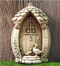 Stone Mother Goose Fairy Door by Carruth Studio