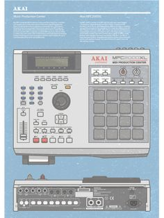 Akai MPC Poster by Stepan Solodkov, via Behance Cassette Tape Art, Wow Recipe, Graffiti Piece, Audio Studio, Drum Machine, Music App, Sound Design, Vintage Music, Sound Waves