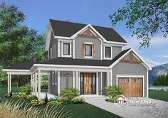 Discover the plan 3902 - Larch Lake 2 from the Drummond House Plans house collection. Farmhouse, covered porch, bedrooms, master with private balcony. Total living area of 1302 sqft.