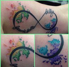 #tattoo #watercolor #infinity #kidsnamea