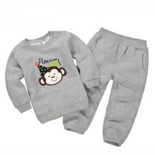 Boys Hoodies+casual pants Kids Tracksuit cartoon Christmas deer Clothing Baby Girls Sport Suit Children Outfits 11 colors(China (Mainland))
