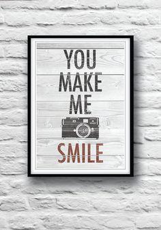 Wall Decor, cool poster, love, romantic poster, happy, smile, Wall Decor, camera poster