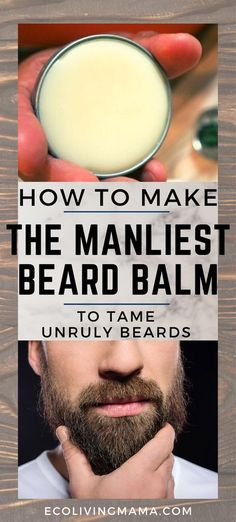 The best beard balm recipe that will leave your guy with a soft, touchable and oh-so-manly smelling beard. Scented with essential oils and made with natural ingredients, this easy DIY beard balm is the perfect addition to your guys beard care routine.