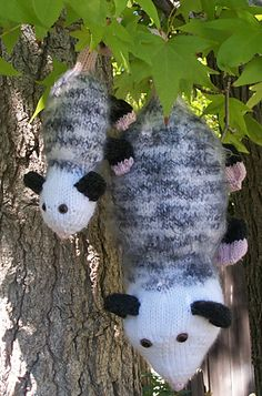 Ravelry: Poppy Possum and Baby pattern by Julie L. Anderson | I call the big one 'Bitey'