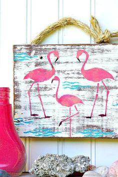 Pink Flamingo Junk Sign 2