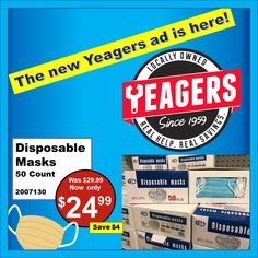 We have the great deals you are looking for at Yeagers!