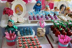 once upon a time disney princess party dessert table Disney Princess Birthday Party, Disney Princess Party, Cinderella Party, 3rd Birthday Parties, Girl Birthday, Princess Theme, Birthday Table, Birthday Crafts, Birthday Ideas