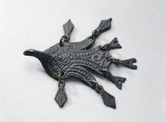 The original to one of Finnish Kalevala Jewelry's contemporary pendants | Viking age/ Finnish / Bird pendant