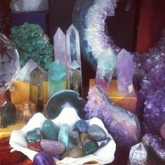 Crystals, reminds me of mom's house