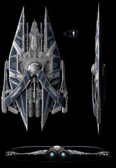 Ortho - Large Space Warship by zzombat on deviantART