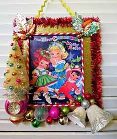 Image of Vintage Miss Christmas and Holly Belle Paper Doll Book Decoration