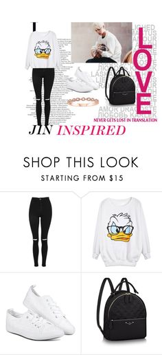 """""""JIN INSPIRED"""" by tamaraaral on Polyvore featuring Topshop"""
