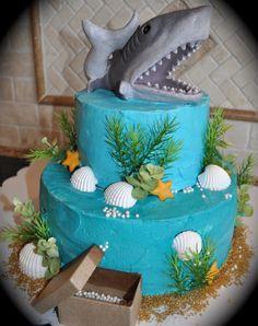 Cool Beach Themed Cake