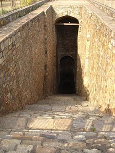 Bari Baoli step wall
