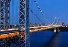 Photo du George Washington Bridge de nuit