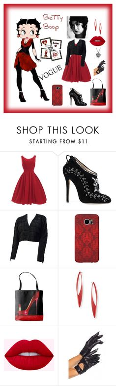 """""""Betty Boop!"""" by personaleffects ❤ liked on Polyvore featuring Marchesa, I. Magnin, Betty Boop, Samsung, accessories, polyvorestyle, polyvorefashion and polyvoreset"""