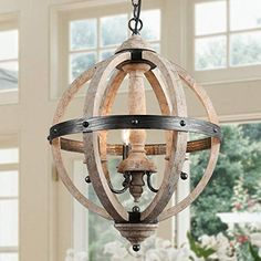 Farmhouse Chandelier Light with Pendant Lighting for Dining Room – x (Indoor), Brown Bauernhaus Kronleuchter mit 3 … Farmhouse Chandelier Lighting, Kitchen Chandelier, Dining Lighting, Globe Chandelier, Black Chandelier, Kitchen Pendant Lighting, Pendant Chandelier, Globe Pendant, Farmhouse Dining Room Lighting
