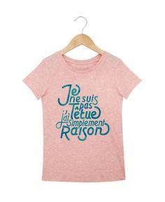 T-shirts kids fille Têtue Rose chine by Madame TSHIRT Kids