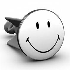 Waschbeckenstöpsel Smiley black & white
