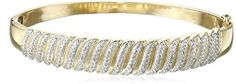 18k Yellow Gold-Plated Sterling Silver Diamond Bangle Bracelet (1/10cttw, I-J Color, I2-I3 Clarity) -- Check out this great product.