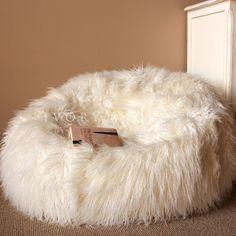 Large Cream SHAGGY FUR BEAN BAG Cover Cloud Chair Beanbag for Lounge Rumpus Home | Home & Garden, Furniture, Bean Bags & Inflatables | eBay!