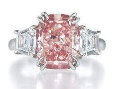 pink harry winston engagement ring.