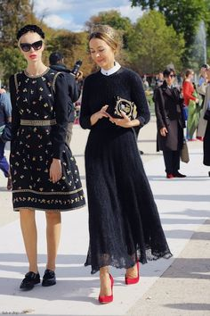 Ulyana Sergeenko - a blend of radiation at Russian Folk dressing and couture