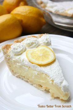 Creamy, dreamy lemon sour cream pie could be my favorite pie recipe of all time!