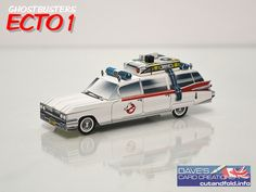 ECTO-1 Ghostbusters Paper Model by Dave Winfield - Dave's Card Creations © www.cutandfold.info