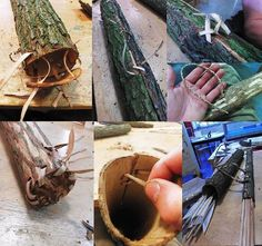 How to make your own 'Wood Elf' quiver // weapon armor Elf Cosplay, Cosplay Weapons, Cosplay Costumes, Costume Tutorial, Cosplay Tutorial, Larp, Elfa, Diy Costumes, Wood Elf Costume